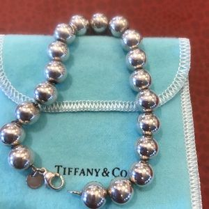 Authentic Tiffany&Co 8mm Beaded Bracelet 8 inch